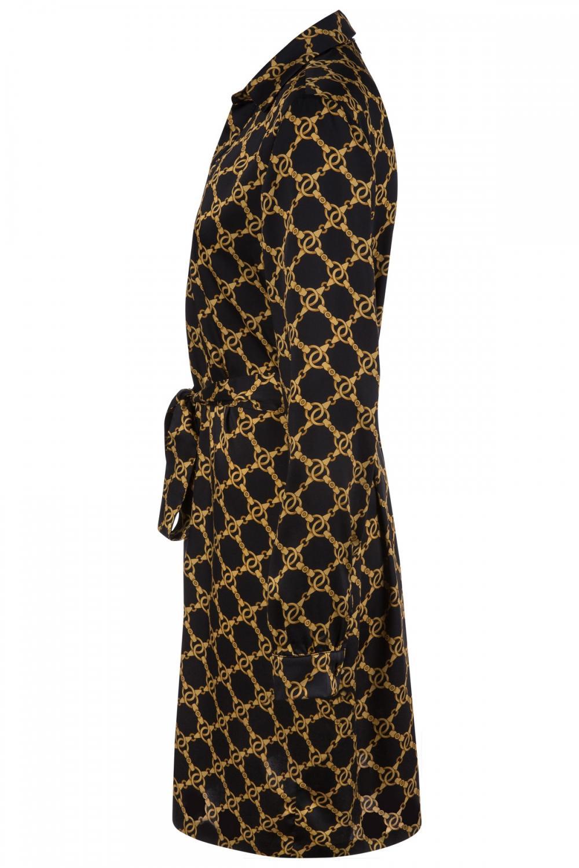 Twin Set Damen Blusenkleid mit Kettendesign Schwarz 3
