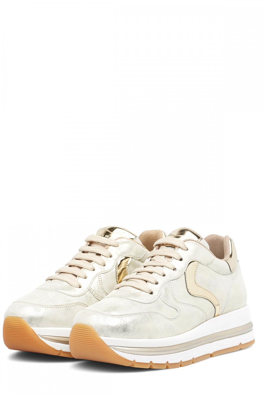 Voile Blanche Damen Plateau Sneaker Maran Vit Silber/Gold 3