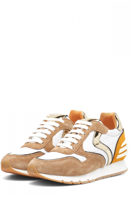 Voile Blanche Damen Sneaker Julia Power Weiss/Cognac 3