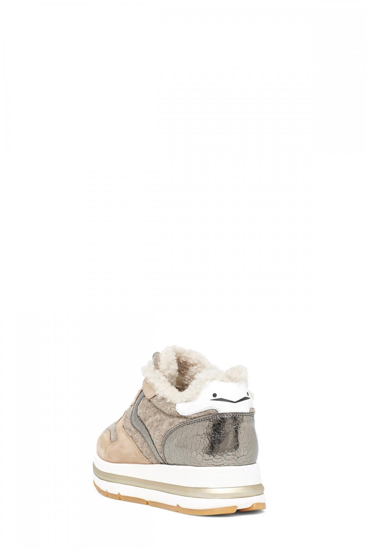 Voile Blanche Damen Sneaker Maran Fur Beige 3
