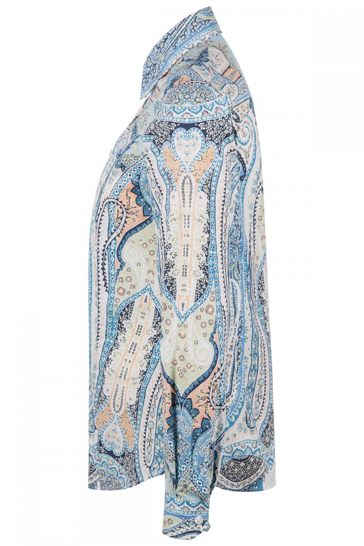 Etro Damen Bluse mit Print Blau 4