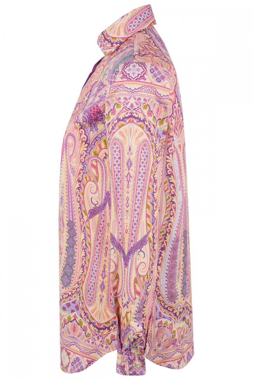 Etro Damen Bluse mit Print Pink 4