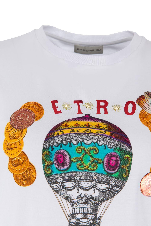 Etro Damen T-Shirt Circus Weiss 4