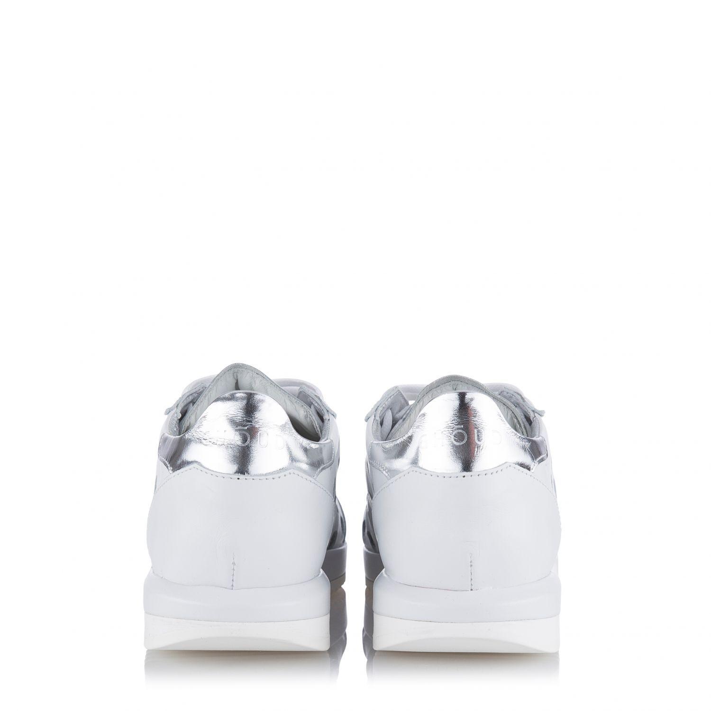 Ghoud Damen Ledersneaker mit Cut-Outs Weiss 4