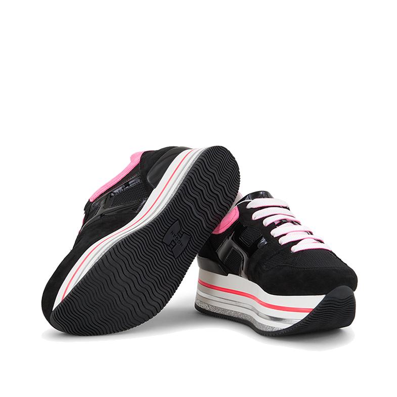 Hogan Damen Plateau Sneaker H422 Schwarz 4