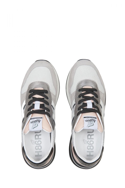 Hogan Damen Sneaker H383 Allacciato Pelle Grau 4