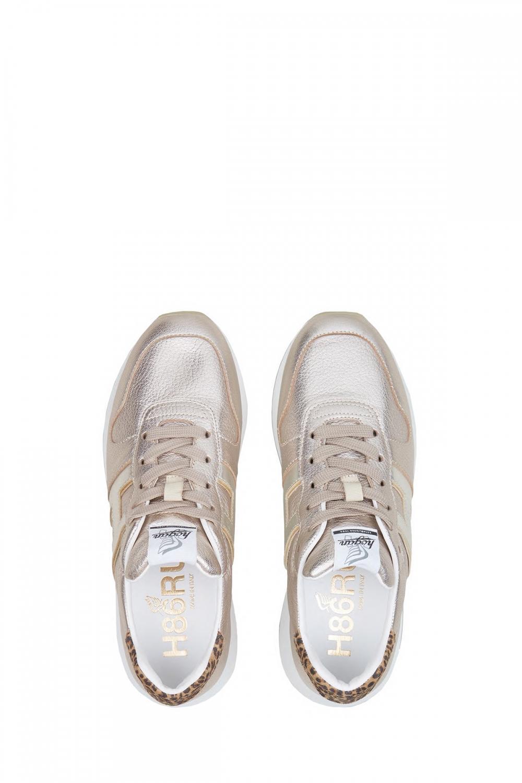 Hogan Damen Sneaker H429 Silber/Gold 4
