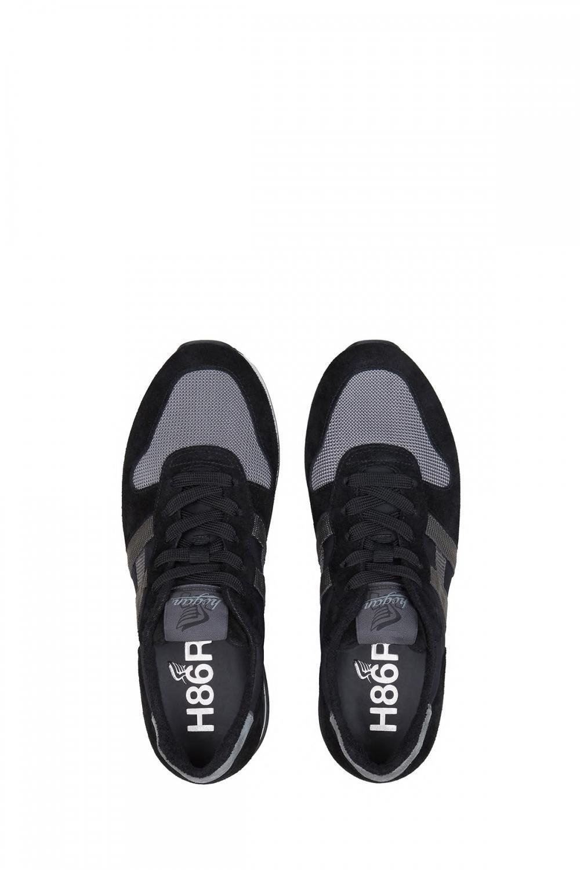 Hogan Herren Sneaker H383 Schwarz/Grau 4