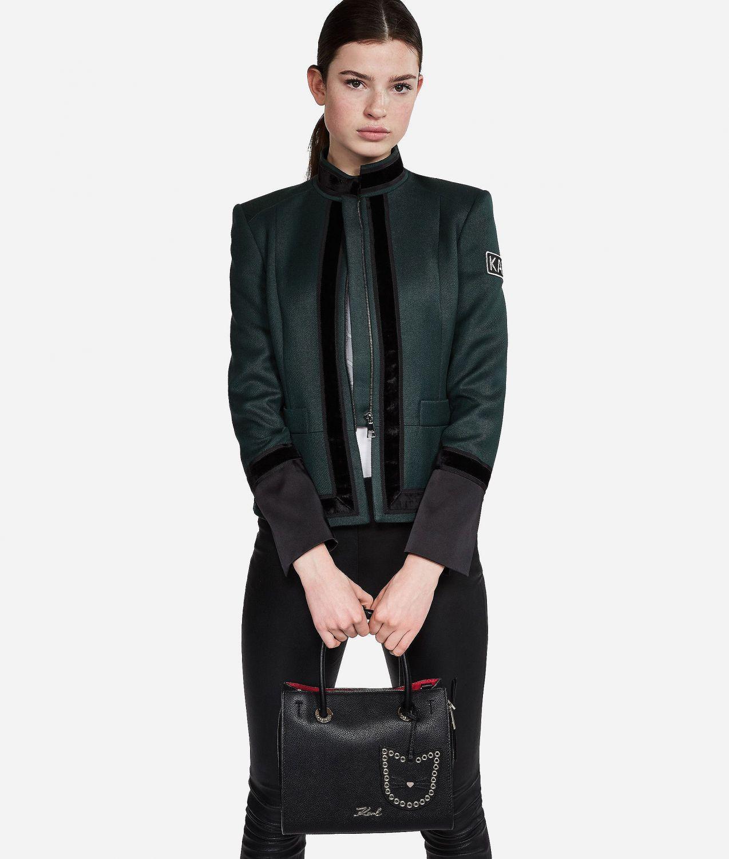 Karl Lagerfeld Damen All Mini Shopper Schwarz 4