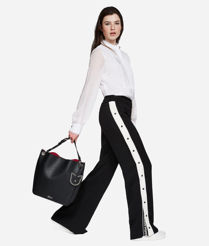 "Karl Lagerfeld Damen Hobo Tasche ""Karry All"" Schwarz 4"
