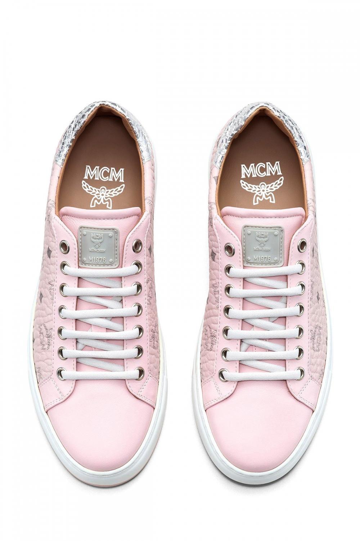 MCM Damen Sneaker Rosa 4