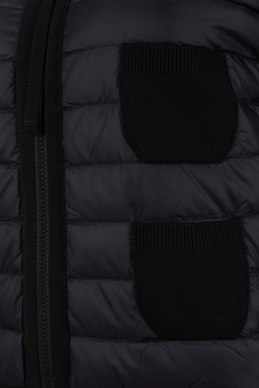 Moncler Damen Strickjacke mit Daunenfront Schwarz 4
