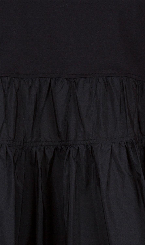 Moncler Damen T-Shirt mit Schößchen Schwarz 4