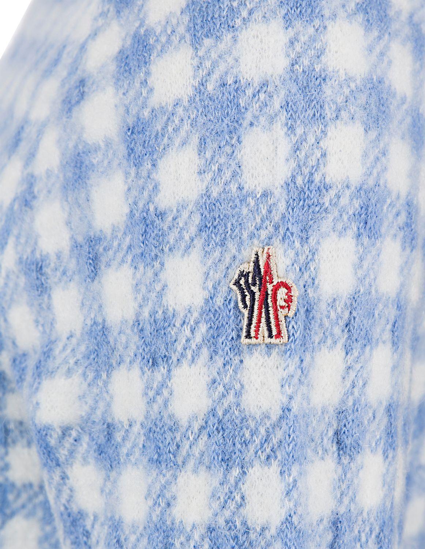 Moncler Grenoble Damen Strickpullover Blau Weiss 4