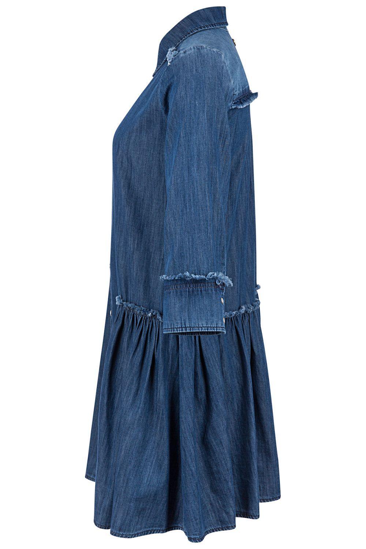 My Twin Damen Jeanskleid Denim Blau 4