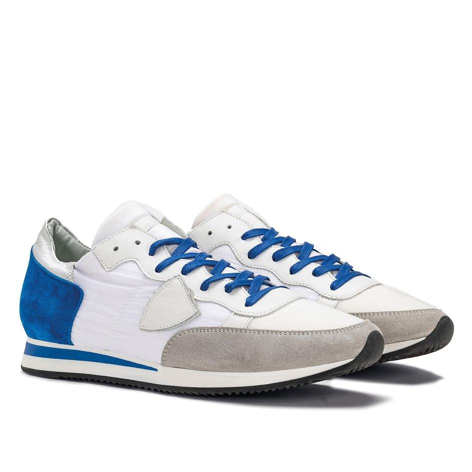 65563fffdff4f Philippe Model Herren Sneaker Tropez Mondial Blau Weiss | SAILERstyle