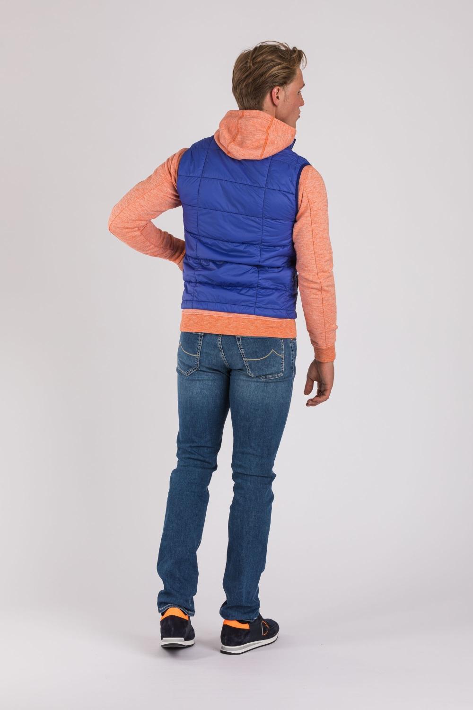 Stone Island Herren Steppweste Garment Dyed Quilted Micro Yarn Blau 4