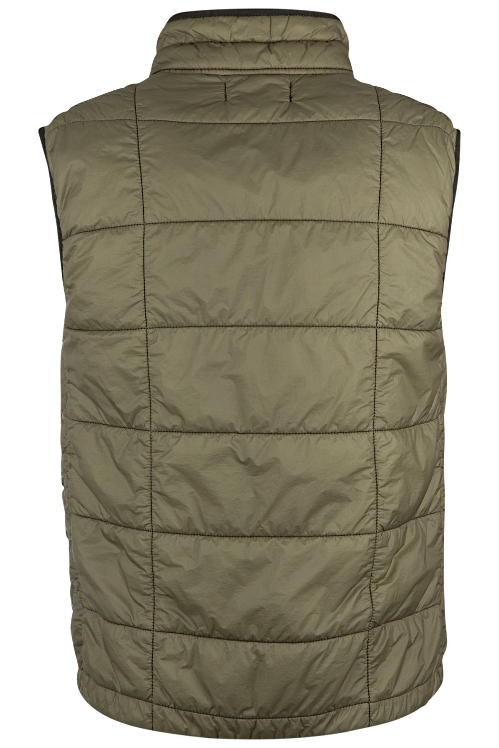 Stone Island Herren Steppweste Garment Dyed Quilted Micro Yarn Olive 4