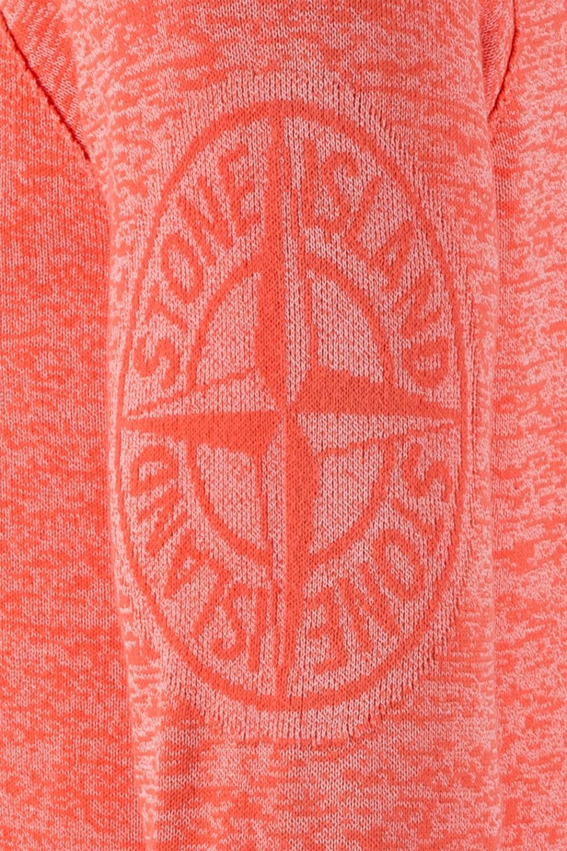 Stone Island Herren Strickpullover Orange 4