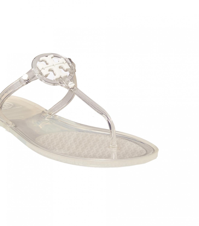 Tory Burch Damen Sandale Mini Miller Flat Thong-Tpu Transparent 4