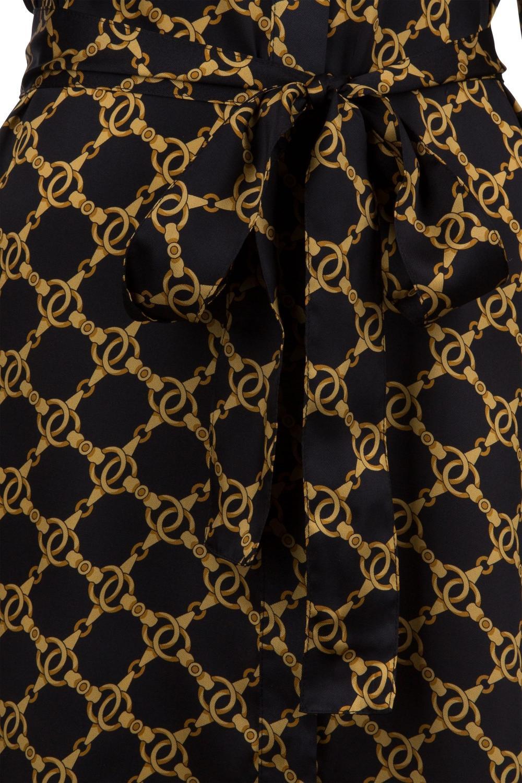 Twin Set Damen Blusenkleid mit Kettendesign Schwarz 4
