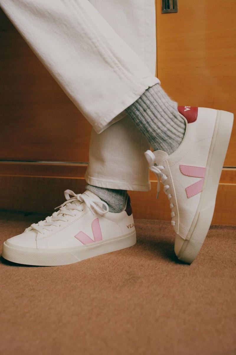 Veja Damen Sneaker Campo Chromefree Extra Marsala Weiss 4