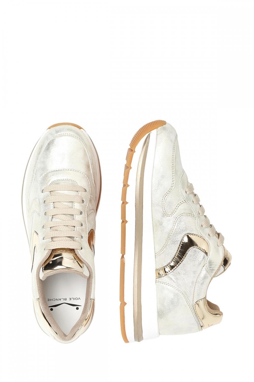 Voile Blanche Damen Plateau Sneaker Maran Vit Silber/Gold 4
