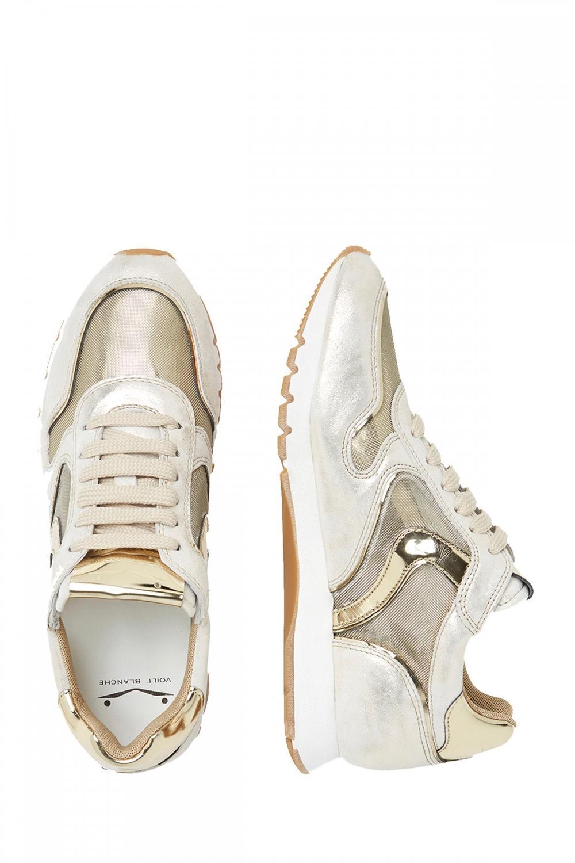 Voile Blanche Damen Sneaker Julia Mesh Silber/Gold 4