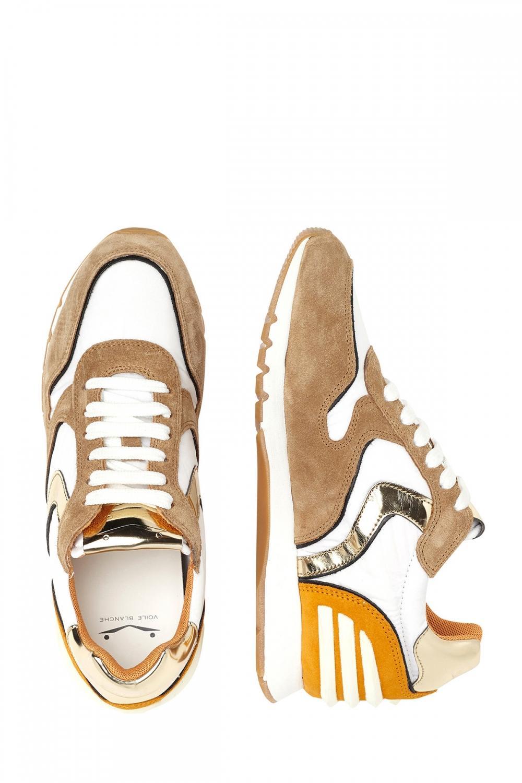 Voile Blanche Damen Sneaker Julia Power Weiss/Cognac 4