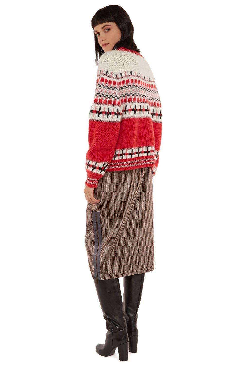 "Essentiel Antwerp Damen Strickpullover ""Rochers"" Rot 5"