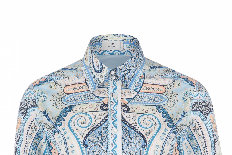 Etro Damen Bluse mit Print Blau 5