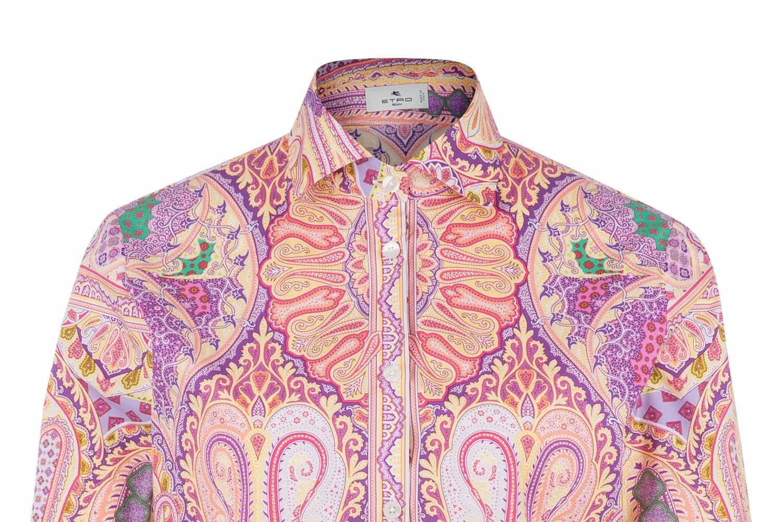 Etro Damen Bluse mit Print Pink 5