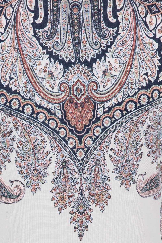 Etro Damen Pullover mit Paisleymuster Marineblau/Weiss 5