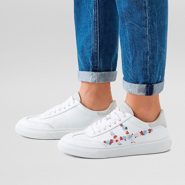 Hogan Damen Ledersneaker H365 Weiss 5