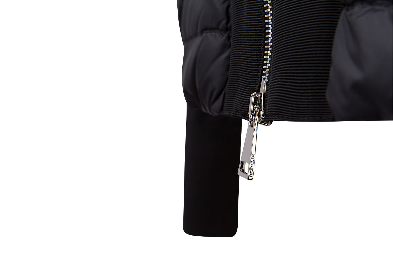 Moncler Damen Daunenjacke mit Strickärmeln Schwarz 5
