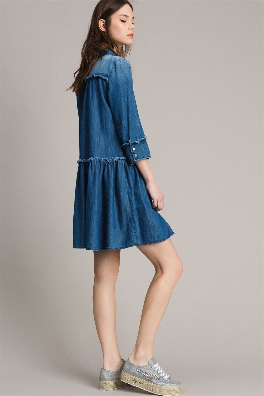 My Twin Damen Jeanskleid Denim Blau 5