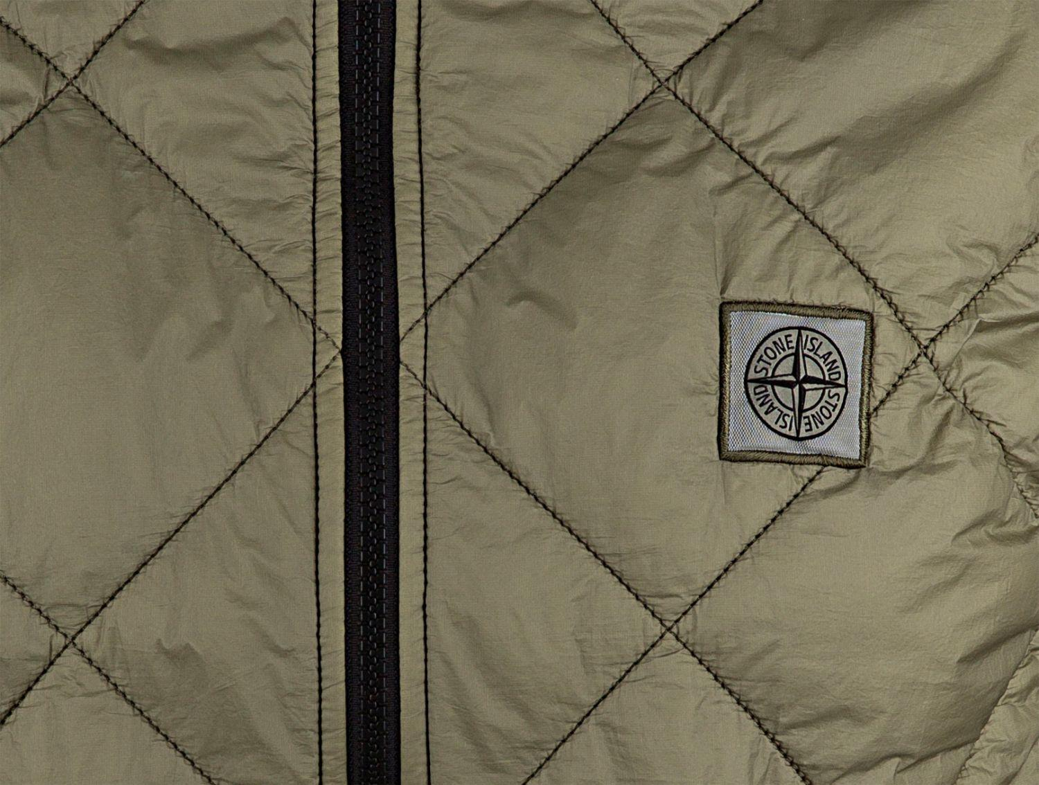 Stone Island Herren Steppweste Garment Dyed Quilted Micro Yarn Olive 5
