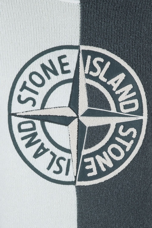 Stone Island Herren Strickpullover mit Kapuze Grau 5