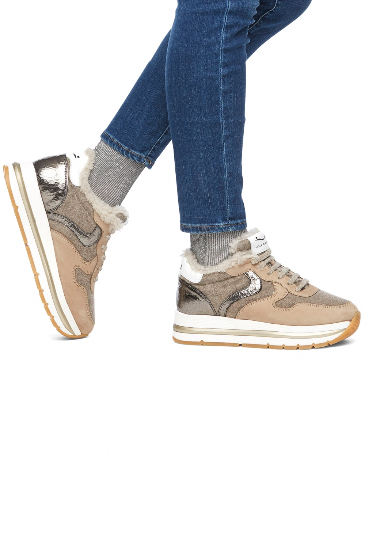 Voile Blanche Damen Sneaker Maran Fur Beige 5