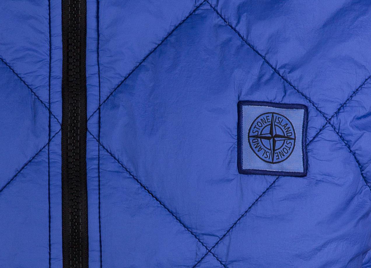 Stone Island Herren Steppweste Garment Dyed Quilted Micro Yarn Blau 6