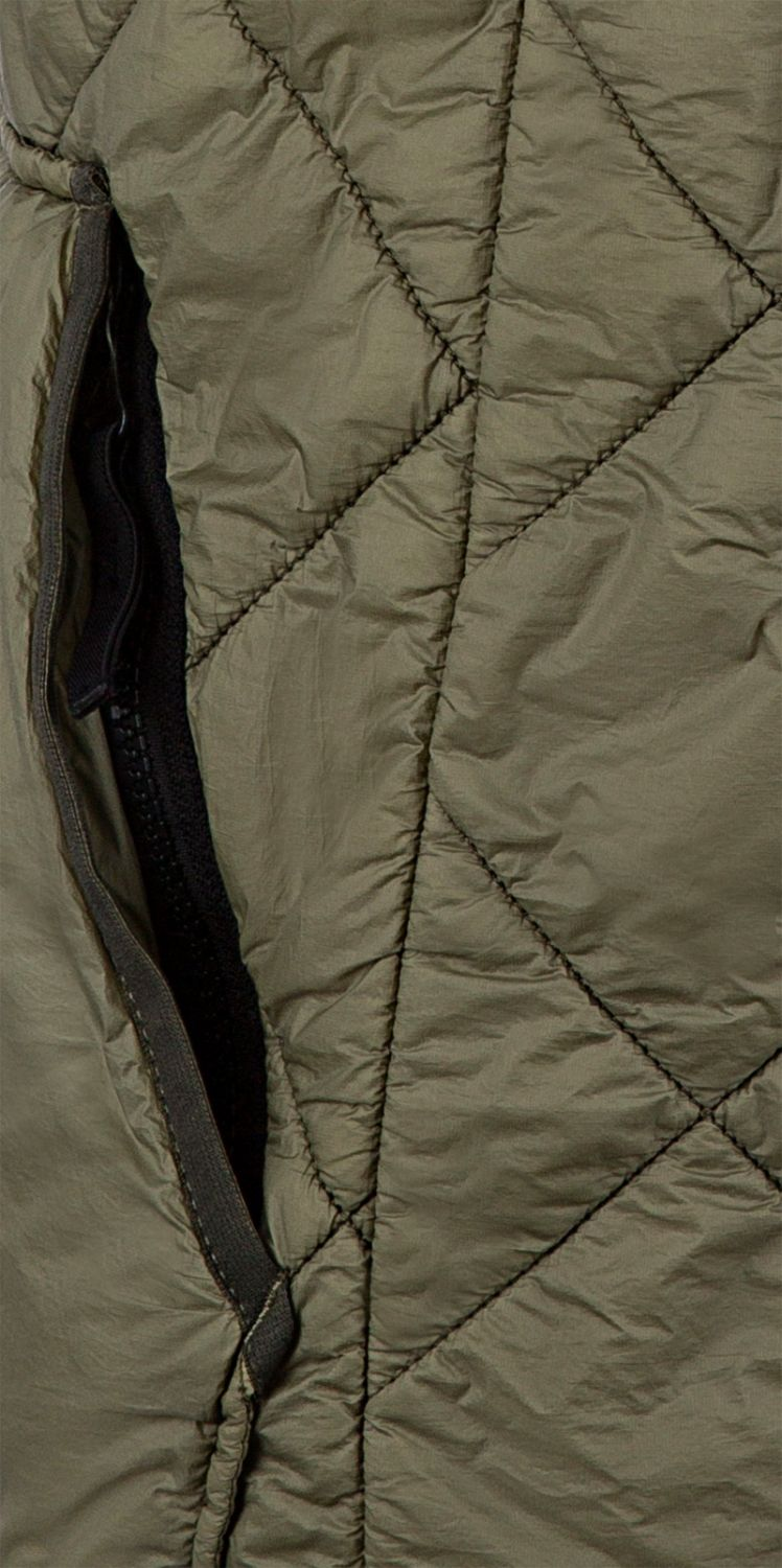 Stone Island Herren Steppweste Garment Dyed Quilted Micro Yarn Olive 6
