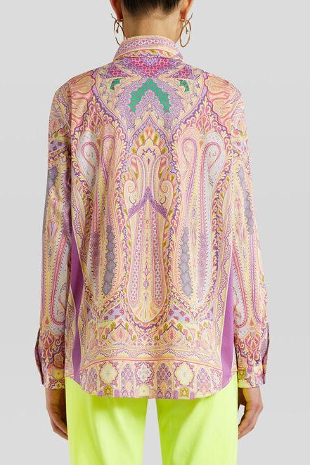 Etro Damen Bluse mit Print Pink 7