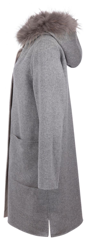 OakWood wendbarer Damen Wollmantel Yale Beige/Grau 7