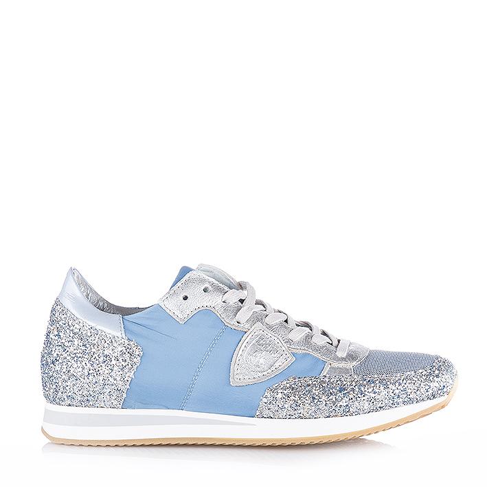 philippe model damen sneaker tropez glitter avion silver bei sailerstyle. Black Bedroom Furniture Sets. Home Design Ideas