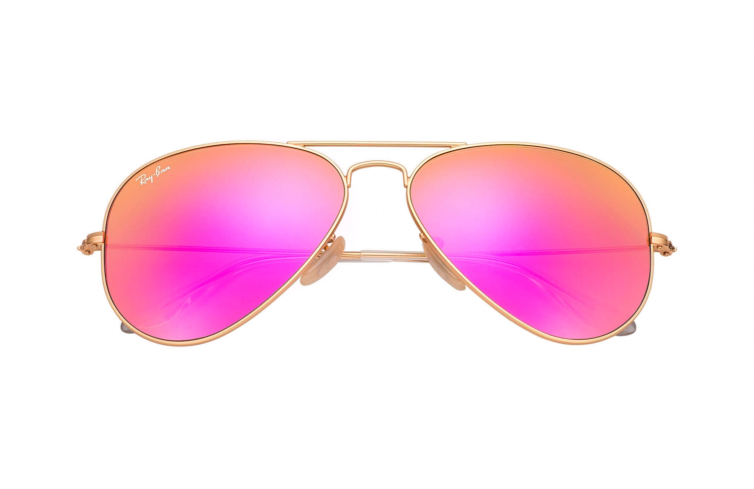 Ray Ban Sonnenbrille Aviator Flash Lenses Gold Zyklam bei SAILERstyle