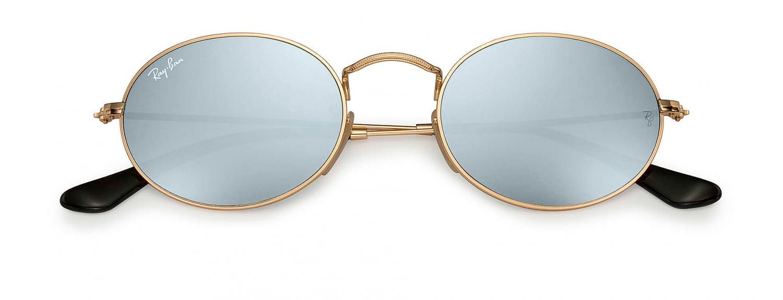 Sonnenbrille Oval Flat Lenses Silber Flash RURvw