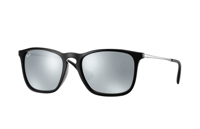 ray ban sonnenbrille chris schwarz gunmetal silber. Black Bedroom Furniture Sets. Home Design Ideas