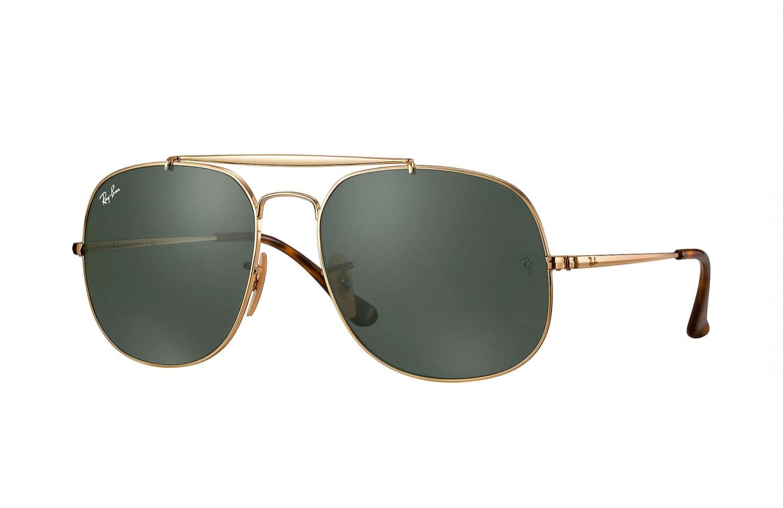 Sonnenbrille General Gold Grün klassisch HTNBEQMfY
