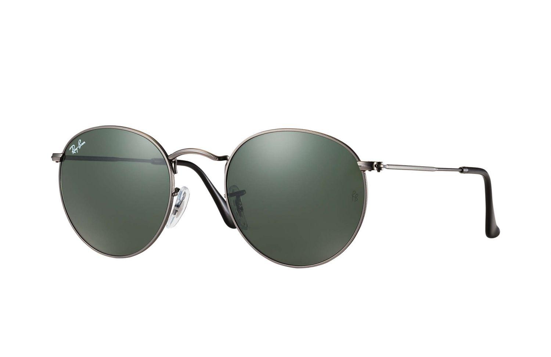 Ray Ban Ray-Ban Sonnenbrille »round Metal Rb3447«, Grau, 029 - Grau/grün
